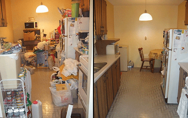 Before and After photos Cleaned