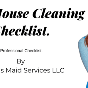 Deep Cleaning House Checklist