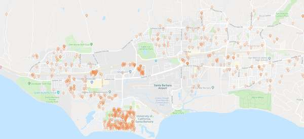 Goleta House Cleaning Jobs Map