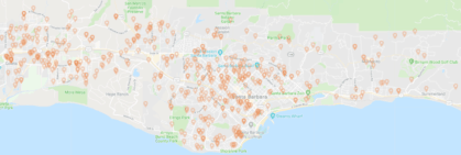 Santa Barbara Cleaning Services Jobs Map